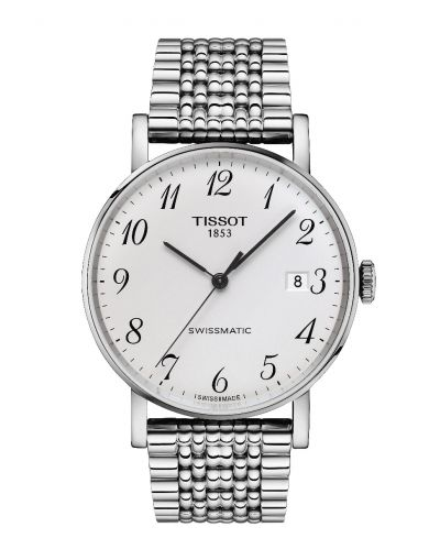 Everytime Swissmatic Silver Dial Grey Bracelet Men's Watch