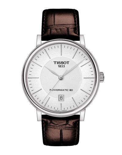 Carson Premium Powermatic 80 Silver Dial - Brown Leather Strap Men's Watch