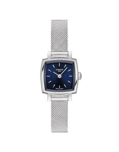 Lovely Square Quartz Blue Dial - Grey Stainless Steel Bracelet Diamonds Women's Watch