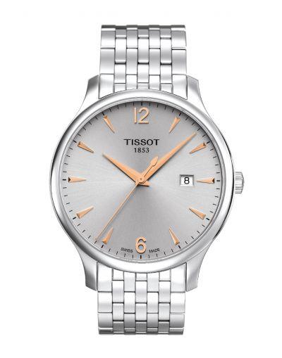 Tissot Tradition Silver Dial - Grey Bracelet Men's Watch