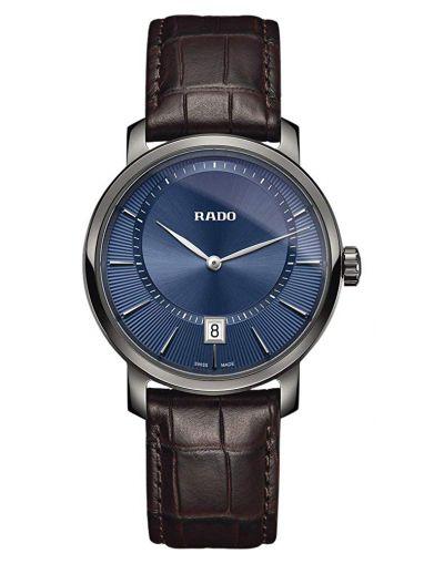 DiaMaster Quartz Blue Dial Ceramic Men's Watch