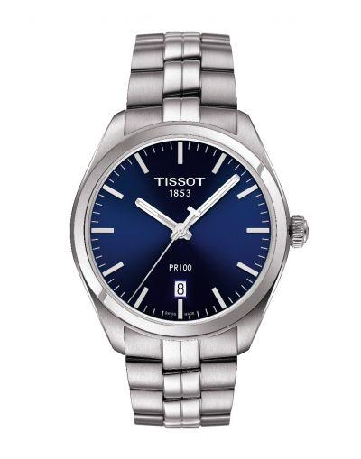 PR 100 Quartz Blue Dial - Grey Stainless Steel Bracelet Men's Watch