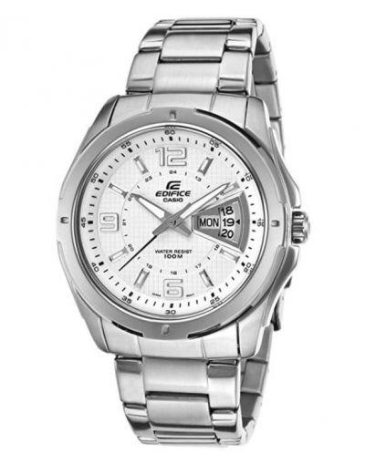 Casio Edifice White Dial Men's Watch
