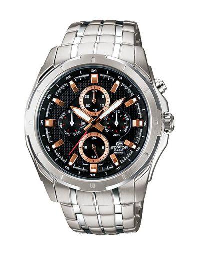 Casio Edifice EF-328D-1A5VUDF Black Dial with Grey Bracelet Men's Watch
