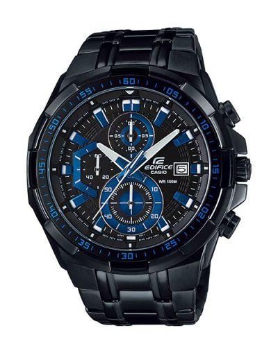 Cadio Edifice EFR-539BK-1A2VUDF Black & Blue Dial with Black Bracelet Men's Watch