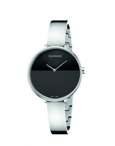 Rise Quartz Black Dial - Grey Stainless Steel Bracelet Women's Watch