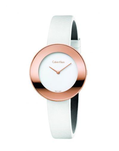 Calvin Klein Chic White Dial Ladies Watch