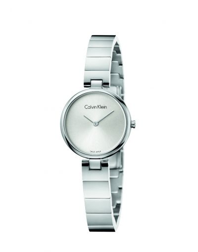 Authentic Quartz Silver Dial - Silver Stainless Steel Bracelet Women's Watch