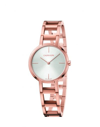 Cheers Quartz Silver Dial Rose Gold Stainless Steel Chain Bracelet Women's Watch