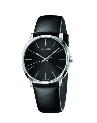 Posh Black Dial Quartz Black Dial - Black Leather Strap Men's Watch