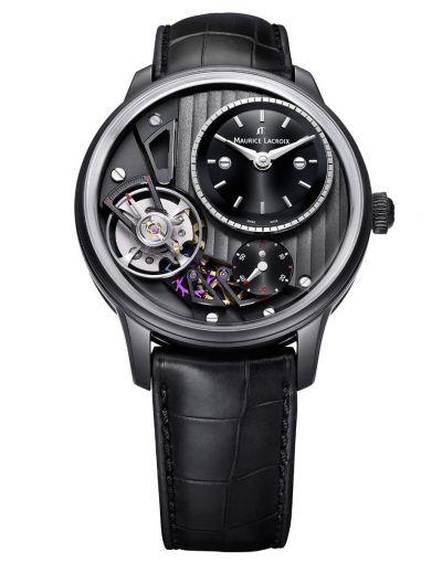 Masterpiece Gravity 43mm Automatic - Black Leather Strap Men's Watch
