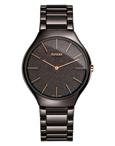 True Thinline Brown Ceramic Dial Men's Watch