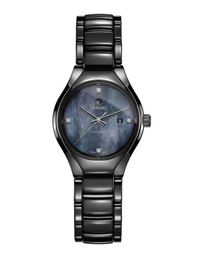 True Automatic Diamond Black Mother of Pearl Dial Ladies Watch