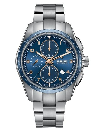 Hyperchrome Automatic Chronograph Blue Dial - Grey Stainless Steel Bracelet Men's Watch