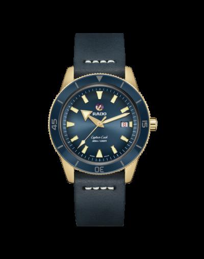 New Rado Captain Cook Automatic Bronze Blue Dial Men's Watch