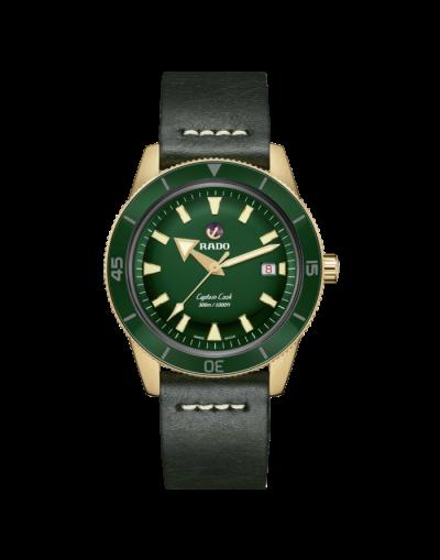 New Rado Captain Cook Automatic Bronze Green Dial Men's Watch